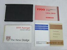 1999 - 99  DODGE AVENGER USER OWNER MANUAL HANDBOOK GUIDE INFORMATION BOOK