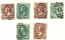 US Bank Note Stamp Types w/NYC PO Station ELLIPSE Fancy Cancels ~ ID=Cole #EL-92