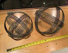 Modern Sphere Sculptures - Pair