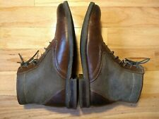 Johnston & Murphy Mens Boots size 11 Shearling Lined Leather Brown excellent