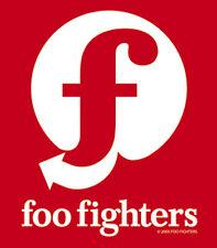 Foo Fighters - Red & White Logo Sticker