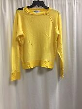 Wildfox Couture Yellow Destroyed Crewneck Jumper Malibu Essentials Size S K11