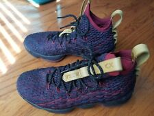 """SALE -- Nike Lebron XV 15 """"New Heights"""" Atomic Teal/Team Red Size 9 (897648-300)"""