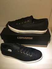 Bnib! Sz3 Converse All Star Chuck Taylor High Line Black Leather Trainers EU35.5