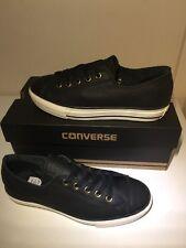 Bnib! Sz3 Converse All Star Chuck Taylor High Line Black Leather Trainers EU35.5