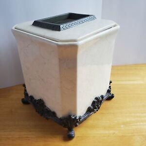 Ceramic Handcrafted Design Tissue Box Holder Case