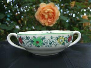Antique Copeland Spode England Nancy Royal Jasmine Handled Soup Bowl VGC