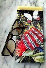 Australian Beauty Sunglasses Case Soft Padded Glasses Pouch Handmade Snap Close