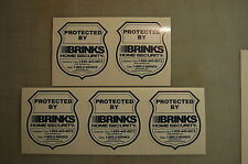 10 * STATIC CLING * Brinks Home Alarm SECURITY SURVEILLANCE Die  STATIC CLING