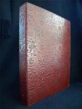 Luxury Handmade Leather A4 Ring Binder Portfolio or Stamp Album - Floral Design