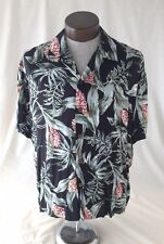 Men's Hawaiian Reserve Collection short sleeve button front shirt L Large