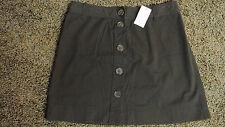 J.CREW Skirt 2-4-6-10-12-14 NWT$60 Chocolate Brown! Summer Fun! 100% Cotton!