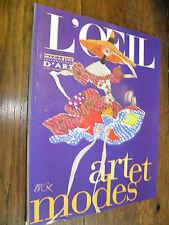 L'Oeil n° 478 Art et modes /  janvier février 1996