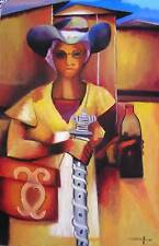 Painting by Late Haitian Master Dieudonne Cedor