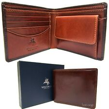 Visconti Men's Quality Bifold Wallet Real Leather Brown/Tan New in Gift Box TR30