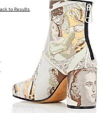 NWOT! Maison Martin Margiela Tabi Jacquard Ankle Boots Size 7US