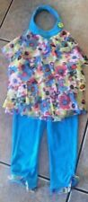 "UC Girls"" KIDS HEADQUARTERS"" Sz 4 leggings halter top w/layers  Floral SUMMER"