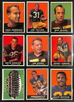 1961 Topps Football Cards - Complete Your Set **YOU PICK** HOF More Added 8/3