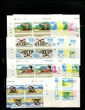 Lesotho 1983 Mushrooms Scott 390-3 IMPERF TETE BECHE Blocks/4 Trial Color Proofs