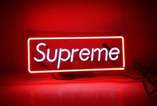 Supreme clothing Glass Neon Light Sign Home Beer Bar Pub Recreation Game Room