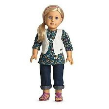 American Girl WEEKEND FUN OUTFIT CHARM jacket top vest jeans sandles NO DOLL