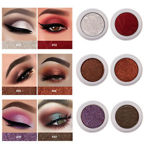 12Colors Smudge-proof Pigment Metallic Eyeshadow Pearl Chameleon Eye Makeup