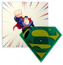 Mondo Superman The Animated Series Die-Cut Vinyl Single Kryptonite Green
