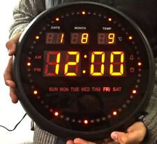 LED Rotondo 30cm Grande Orologio da parete digitale TL-2802 Data Ora Allarme Calendario Ufficio