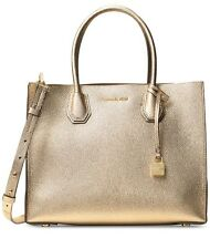 NWT MICHAEL KORS MERCER LARGE STUDIO CONVERTIBLE Pale Gold LEATHER TOTE BAG