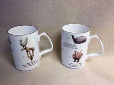 "2 Staffordshire Coffee Mugs~ Anadolu Medeniyetleri~Museum in Turkey 4"" high"