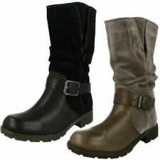 Ladies Clarks Mid Calf Boots 'National Spice'