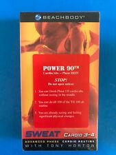 Sweat Cardio 3-4   VHS tape & sleeve   SEALED