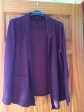 Womans New Look Burgundy Jacket / Coat Size 12 Gret Condition