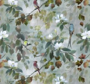 Designers Guild MAPLE TREE CELADON linen fabric 1x1.34. RRP £95 p/m.