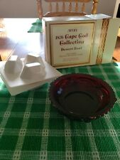 Vtg Avon Cape Cod Collection Ruby Red Dessert Bowl & 3 Special Occasion Soaps