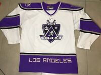 VTG Rare 90s NIKE men's NHL Los Angeles Kings Sz XL white Hockey Stitched Jersey