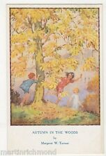Margaret Tarrant, Autumn In The Woods, Children Medici 1938 Postcard, B540