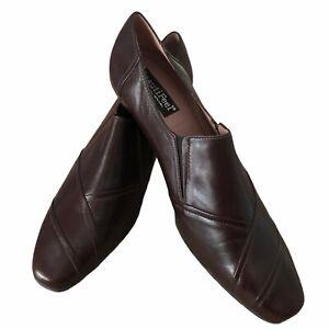 Beautifeel Rosaline Brown Leather Kitten Heel Pumps Shoes EU 40 US 9-9.5 NEW