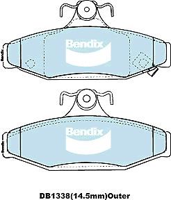 Brake Disc Pad Set Rear Bendix DB1338 4WD For DAEWOO Korando SSANGYONG Musso