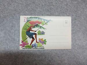 Early 1960's Disneyland ADVENTURELAND  POSTCARD BOOKLET 12 Views Unused
