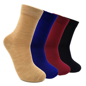 Pure Worsted Combed Merino Wool Woman Man Dress Socks Breathable - FREE SHIPPING