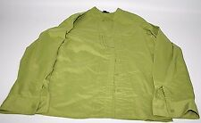 EAST 5th AVE. Button Front Dress Career Long Sleeve Shirt Green Women's Size XL