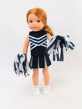 "Navy Blue Cheerleader Skirt Set Fits Wellie Wisher 14.5"" American Girl Clothes"