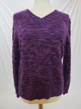JM Collection Petite Women's Sweater ~ Purple ~ Long Sleeve ~ Size: L ~ NWT