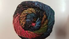 Noro Taiyo Colour #69 Black Blue Orange & Olive Green 100g Cotton Silk & Wool