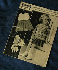 Bestway - Child's Fair Isle Set - 5 - 7 Years Old- Vintage Knitting Pattern