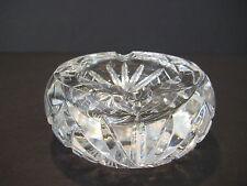 "Vintage American Brilliant Cut Crystal Glass Small Ashtray 4"" D X 1 3/4"" H"