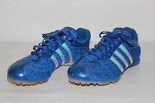 Adidas Adistar Middle Distance Womens 7 Blue & Silver Lace Up Track Cleats Shoes