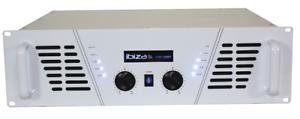 Ibiza AMP1000-WH Pa Amplificateur 2x800W Blanc Evénement Concert Karaoké Dj