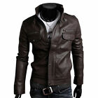 ★Giacca Giubbotto Uomo in di PELLE 100% Men Leather Jacket Veste Homme Cuir 6s1g